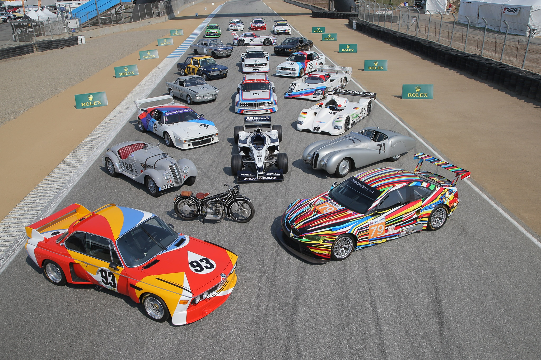 BMW Race Cars Group Photo 2016 Monterey Motorsports Reunion 1