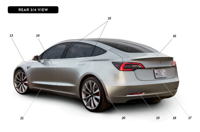By Design Tesla Model 3 rear three quarter