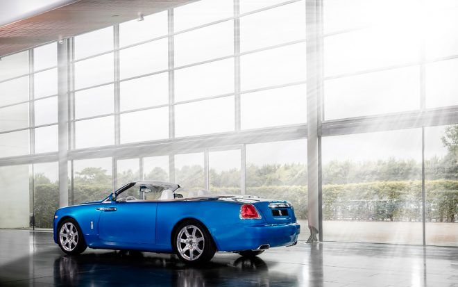 Rolls Royce Dawn Bespoke for Michael Fux rear three quarter