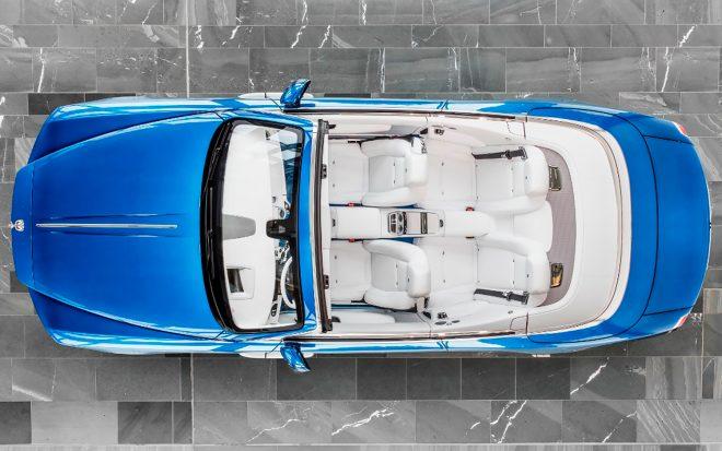 Rolls Royce Dawn Bespoke for Michael Fux top view
