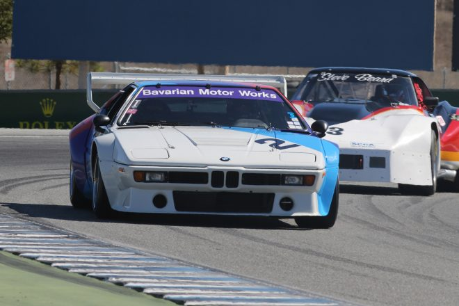 bmw m1 race car monterey motorsports reunion