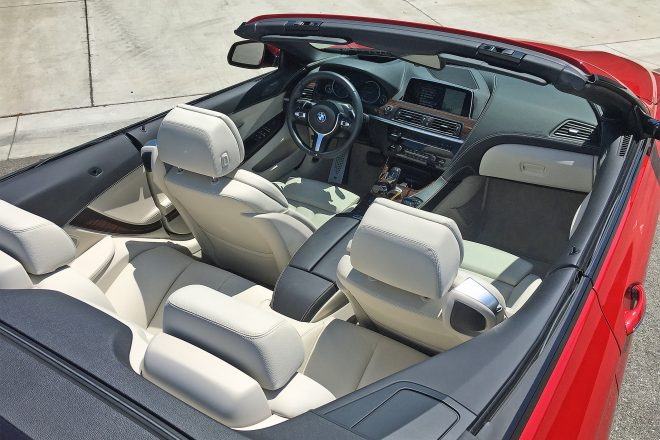 2016 BMW 640i Convertible interior overview