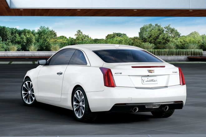 2017 Cadillac ATS Coupe White Edition rear three quarter