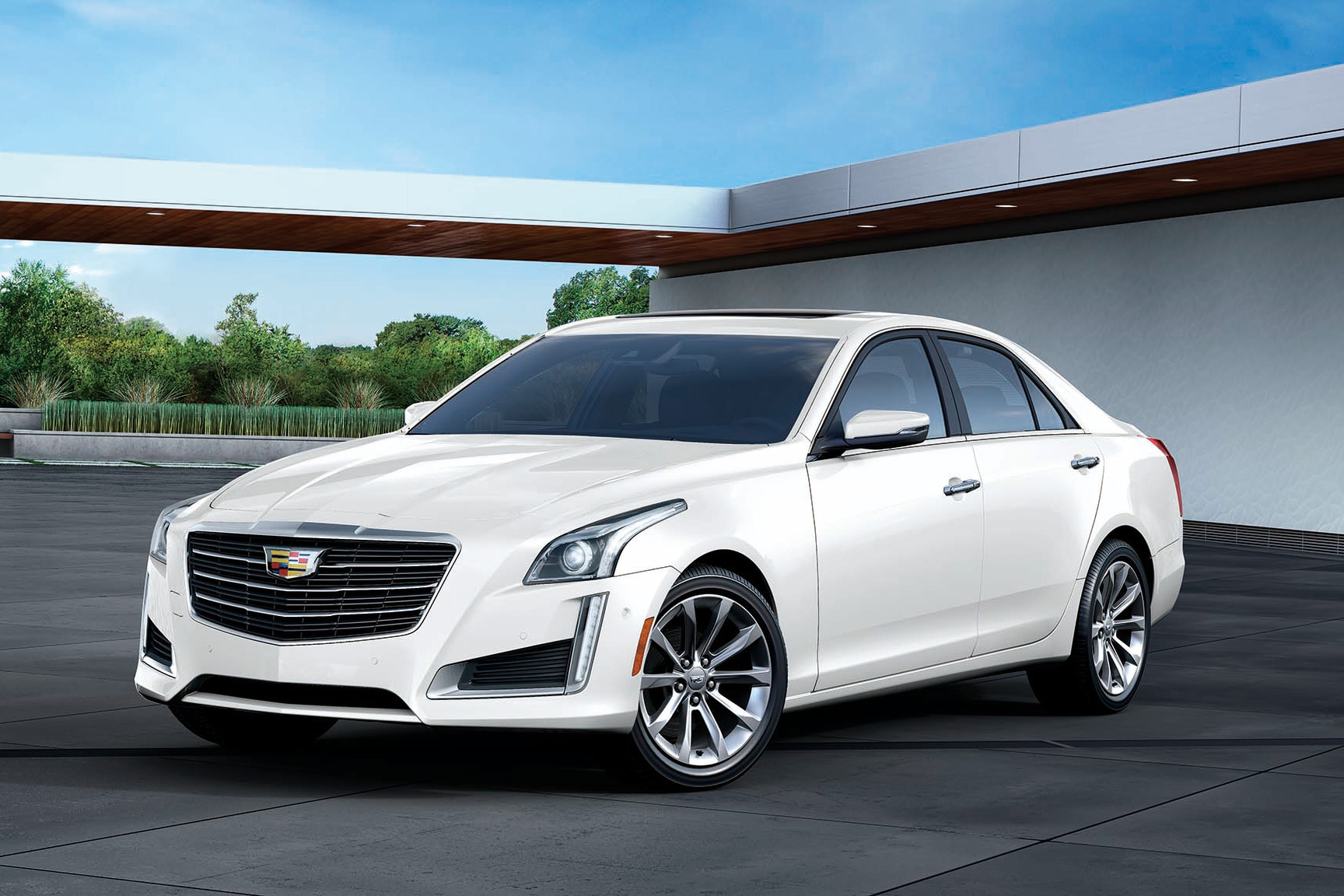 2017 Cadillac CTS White Edition Front Three Quarter