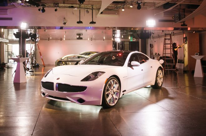 2017 Karma Revero fornt three quarter showroom
