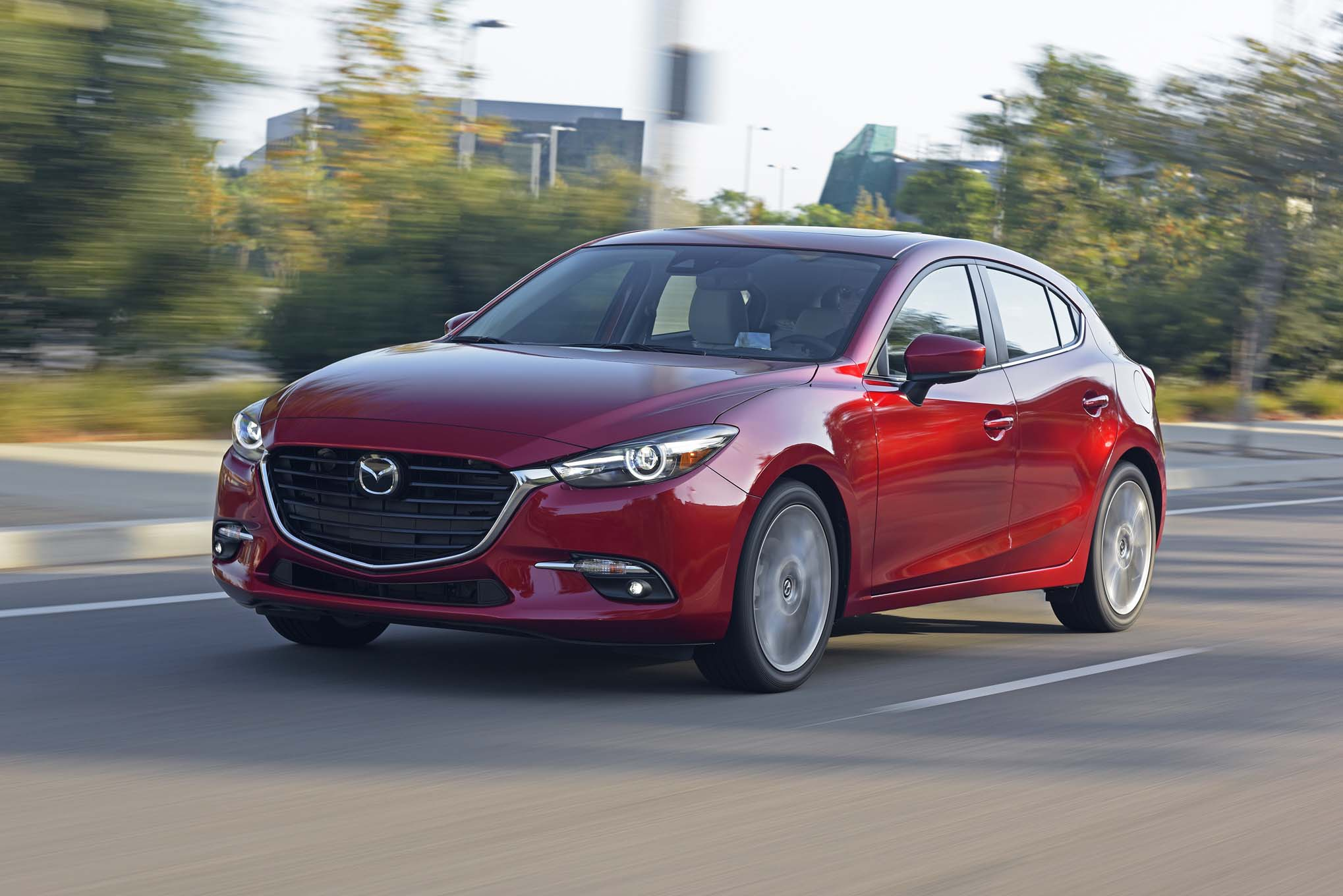 2017 Mazda3 Front Three Quarter In Motion 05 1