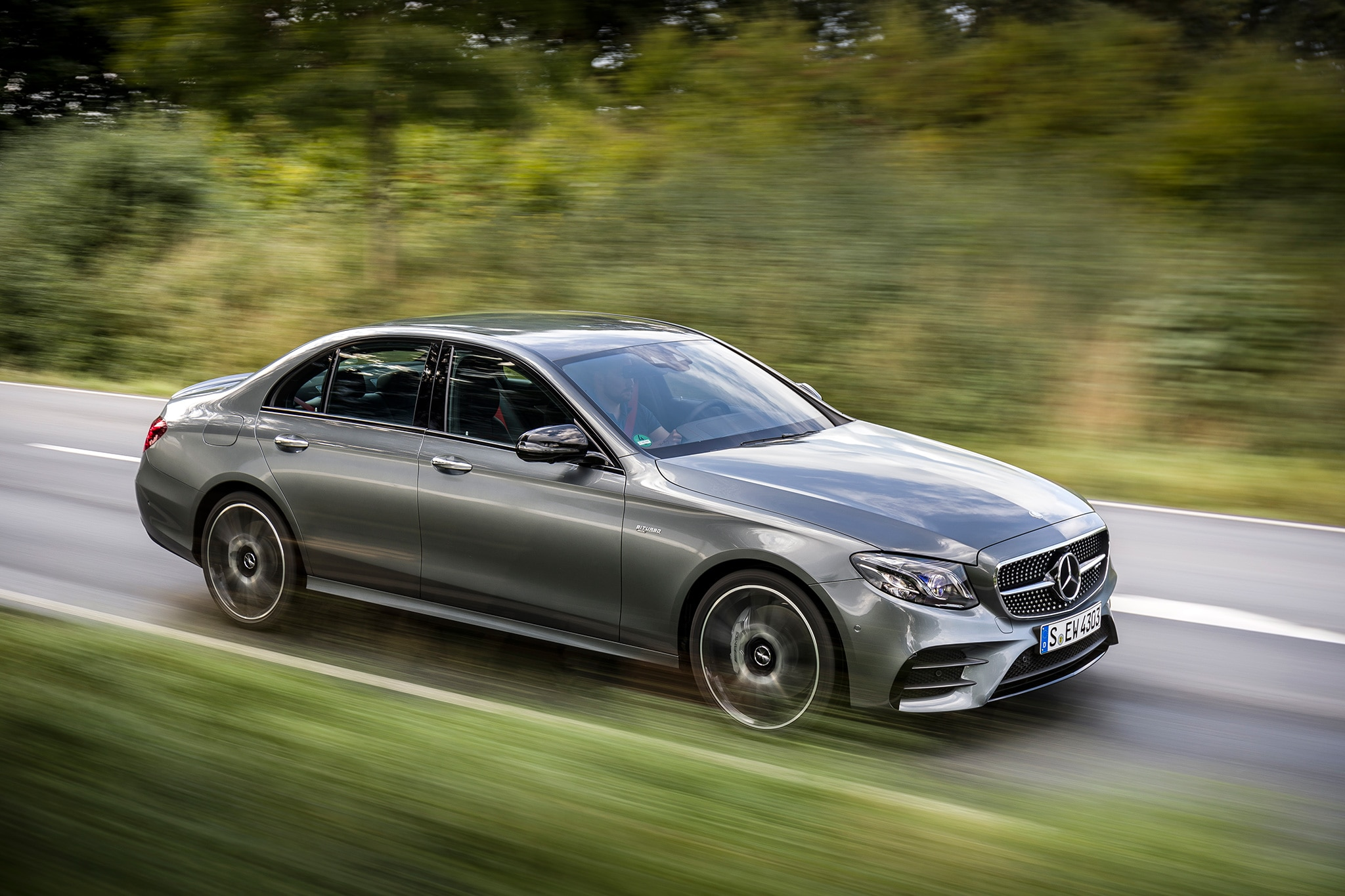 2017 mercedes amg e43 sedan first drive and review automobile magazine. Black Bedroom Furniture Sets. Home Design Ideas
