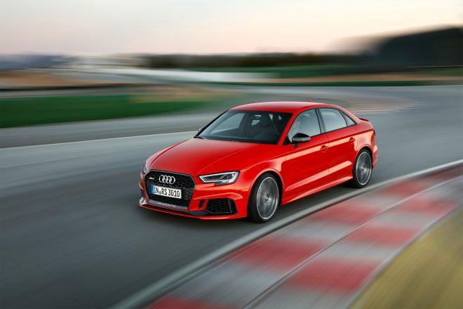 2018 Audi RS 3 Sedan Front Three Quarter In Motion 660x440