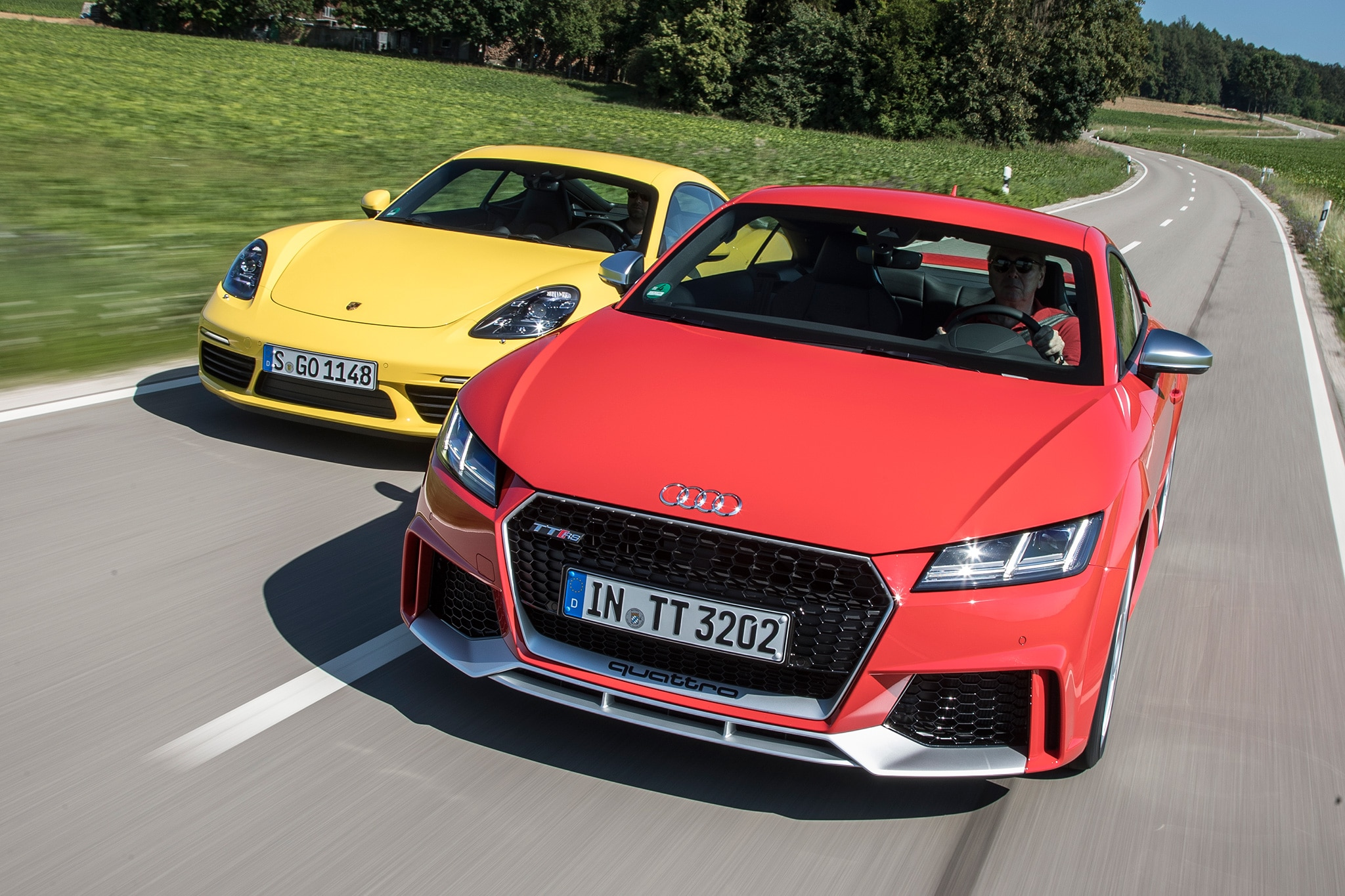 2018-Audi-TT-RS-vs-2017-Porsche-Cayman-S-01 Mesmerizing Porsche 911 Turbo Vs Z06 Cars Trend