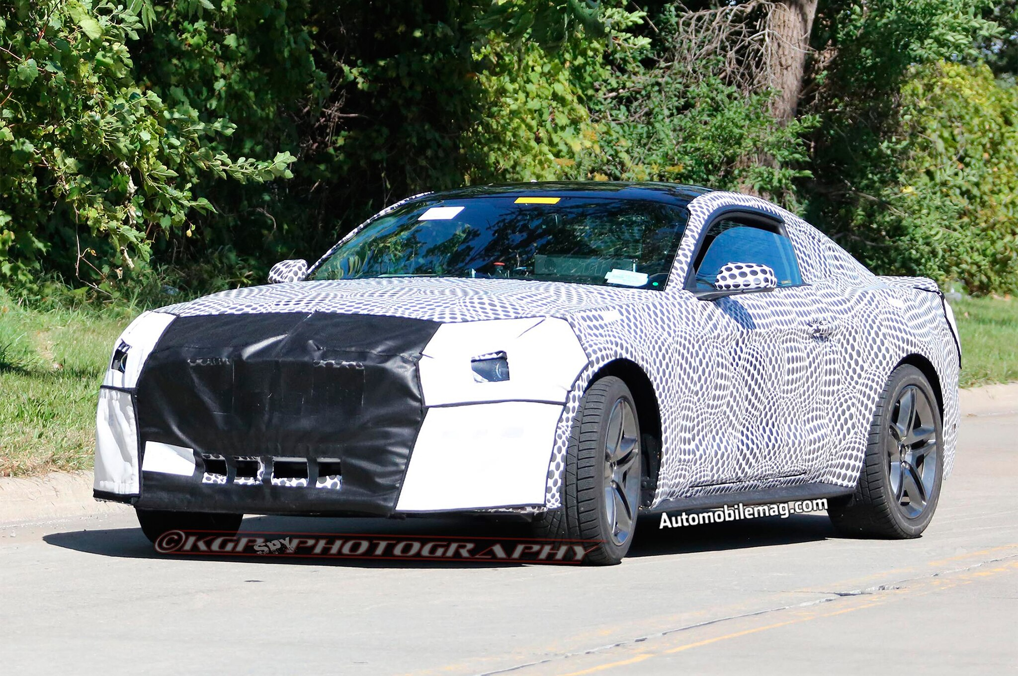 2018 Ford Mustang Facelift Spied Front Three Quarter