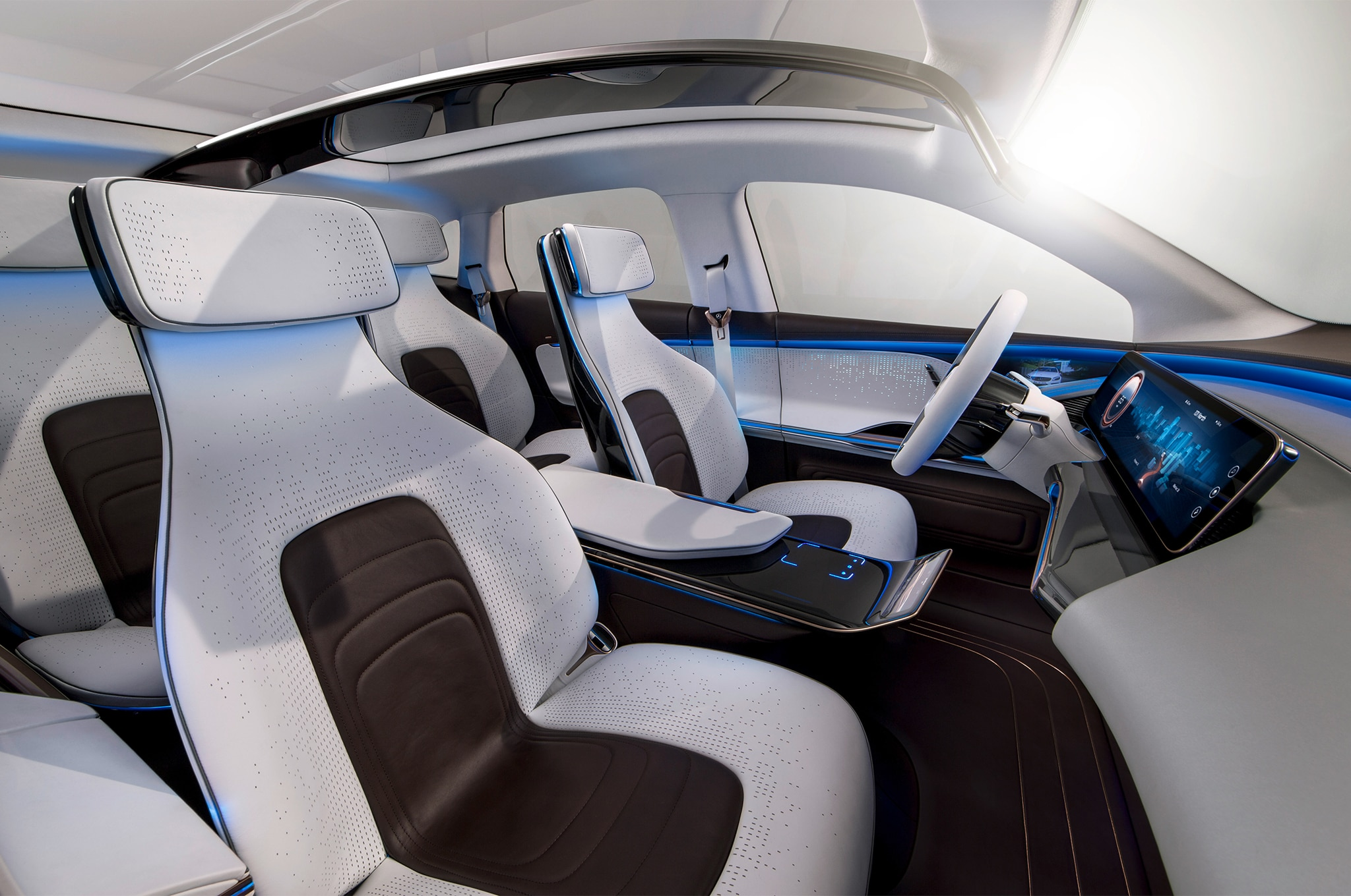 mercedes benz reveals electric generation eq concept suv. Black Bedroom Furniture Sets. Home Design Ideas