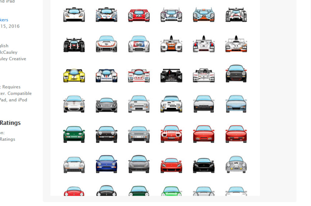 Porsche Emoji Collection 1