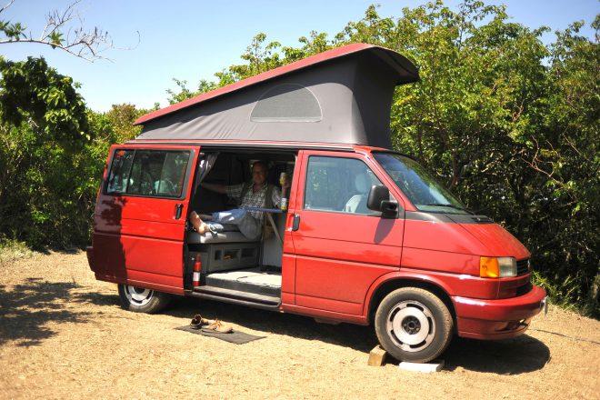 1993 Volkswagen Eurovan Westfalia in Japan with author