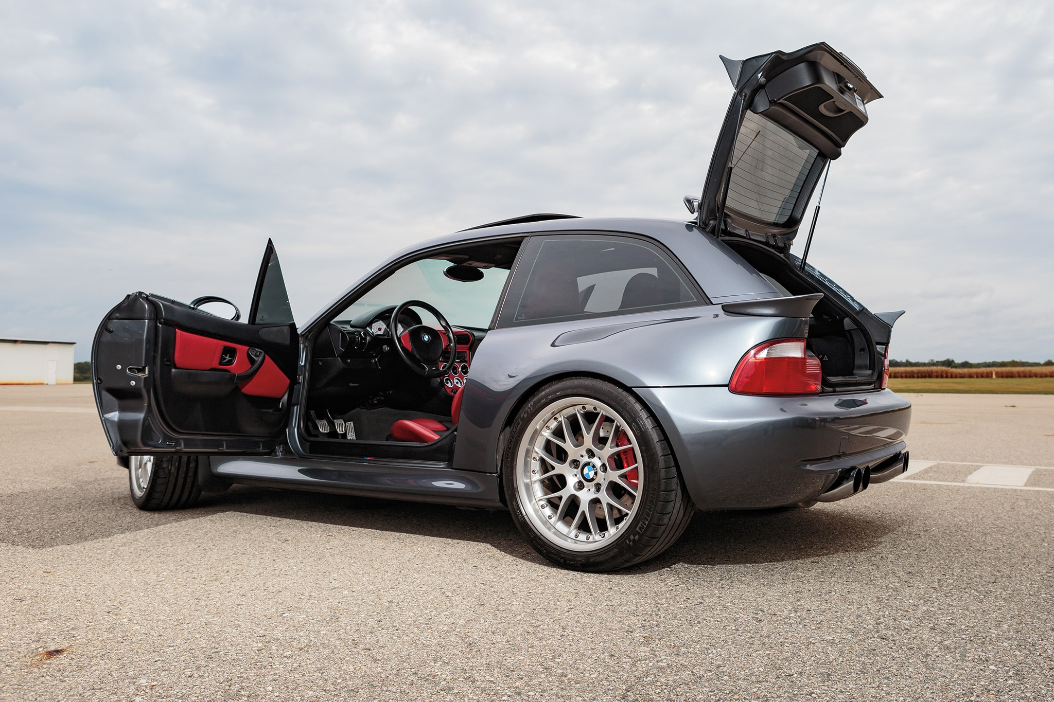 2001 BMW M Coupe S54 Rear Three Quarter 01