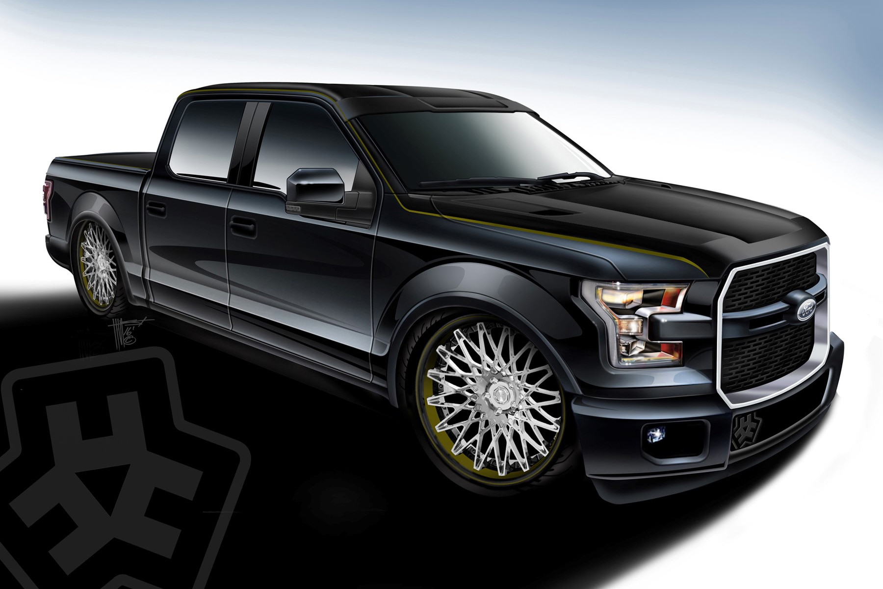ford shows off special f150 trucks for sema automobile