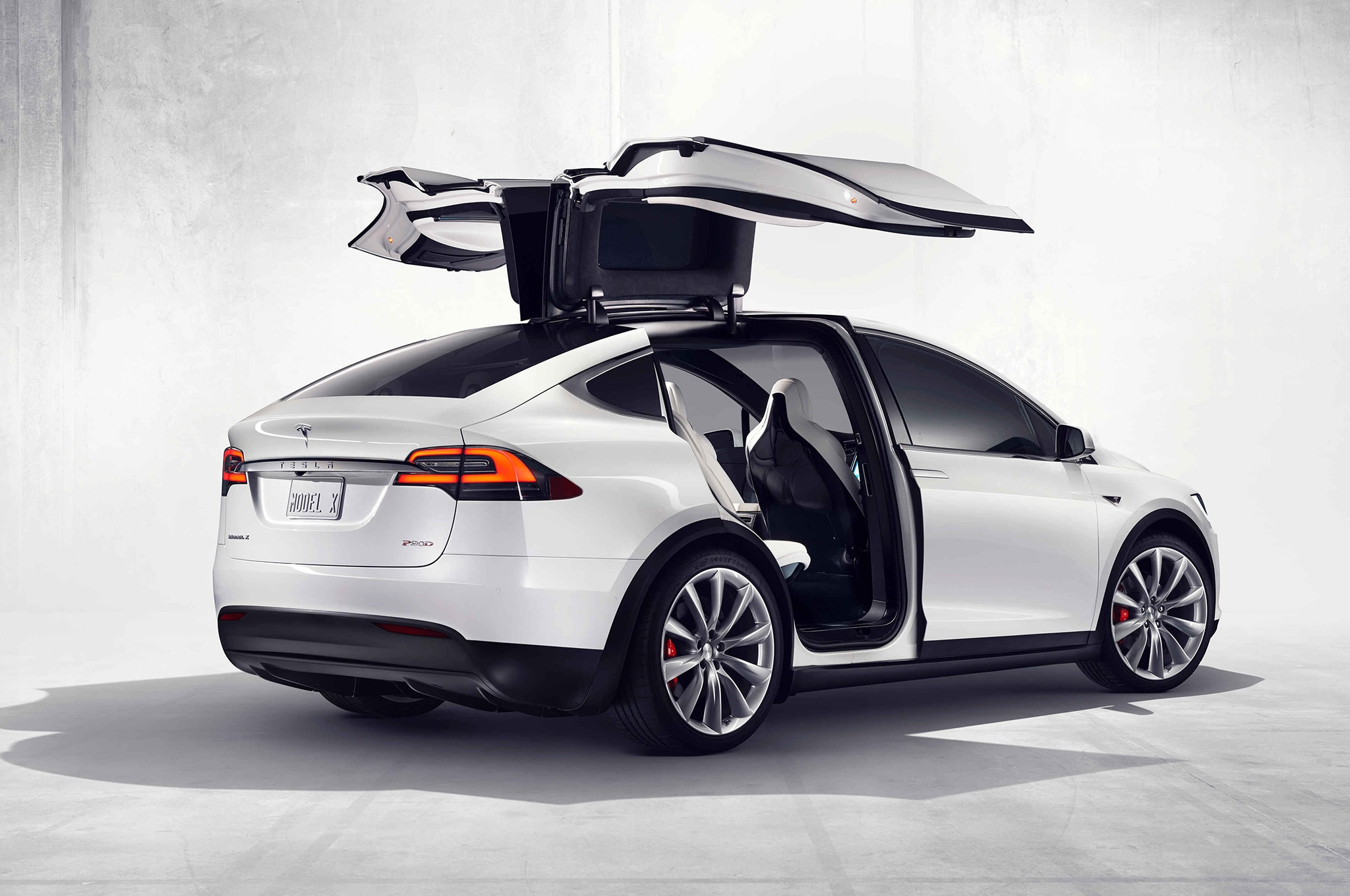 2016-Tesla-Model-X-official-photos-falcon-door-open-rear-three-quarter