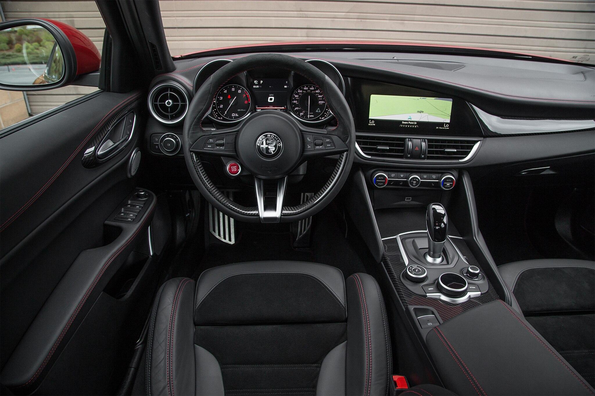 2017 alfa romeo giulia quadrifoglio u s spec first drive - Alfa romeo giulia interior dimensions ...