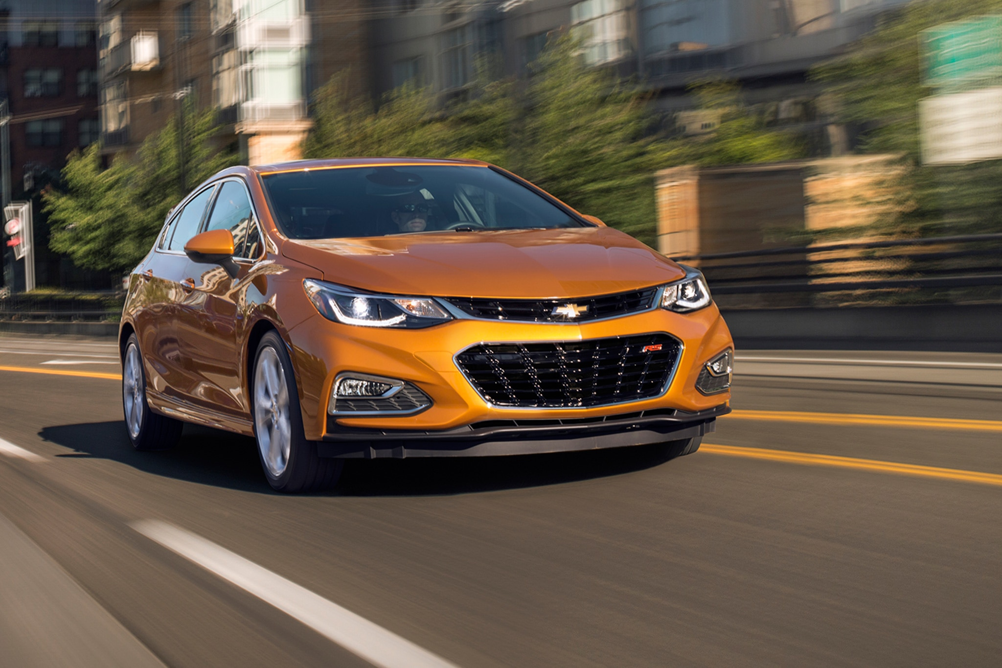 2017 Chevrolet Cruze Hatch Front Three Quarter In Motion 02