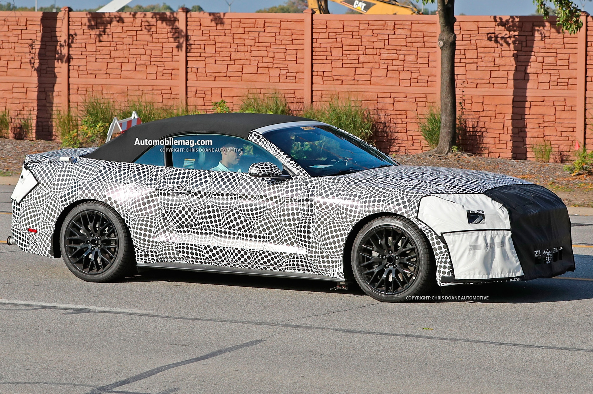 refreshed  ford mustang coupe convertible caught testing automobile magazine