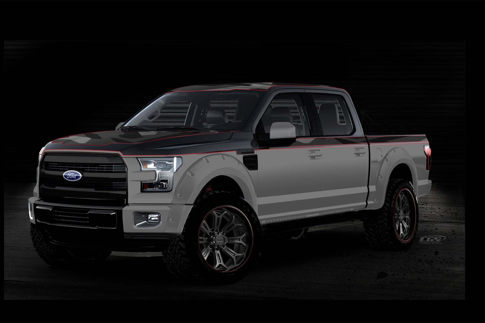 ford shows off special f 150 trucks for sema automobile magazine. Black Bedroom Furniture Sets. Home Design Ideas