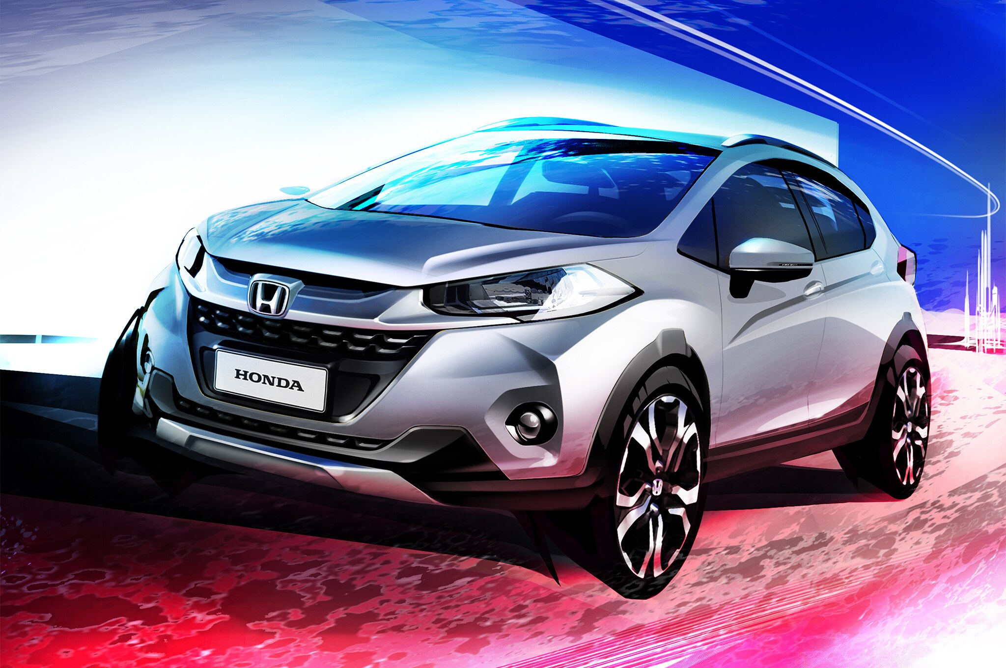 honda teases wr v small crossover made for south american