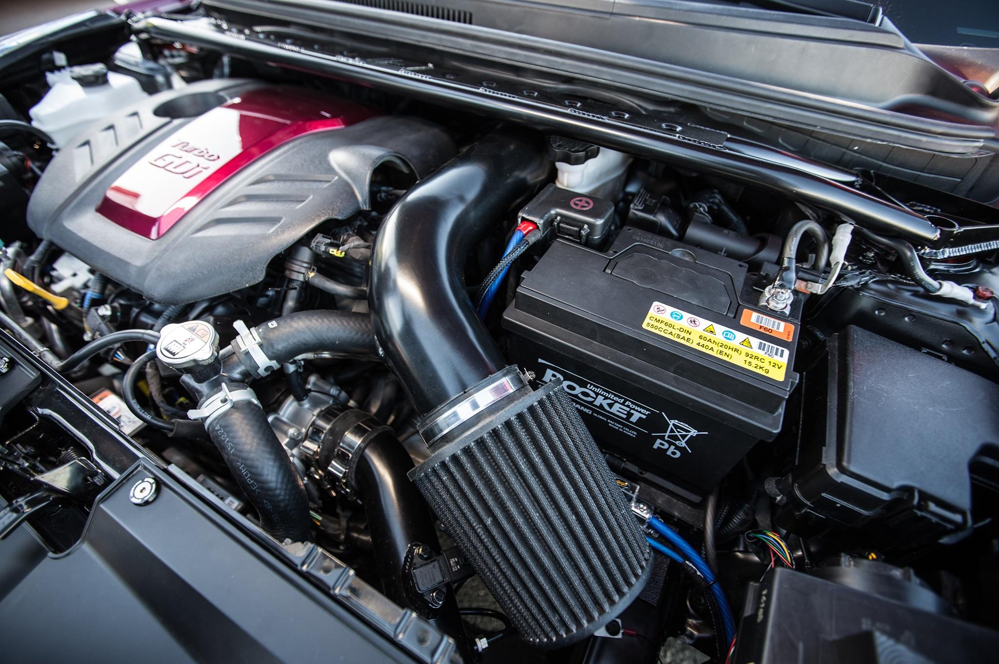 Hyundai Gurnade Veloster concept engine bay