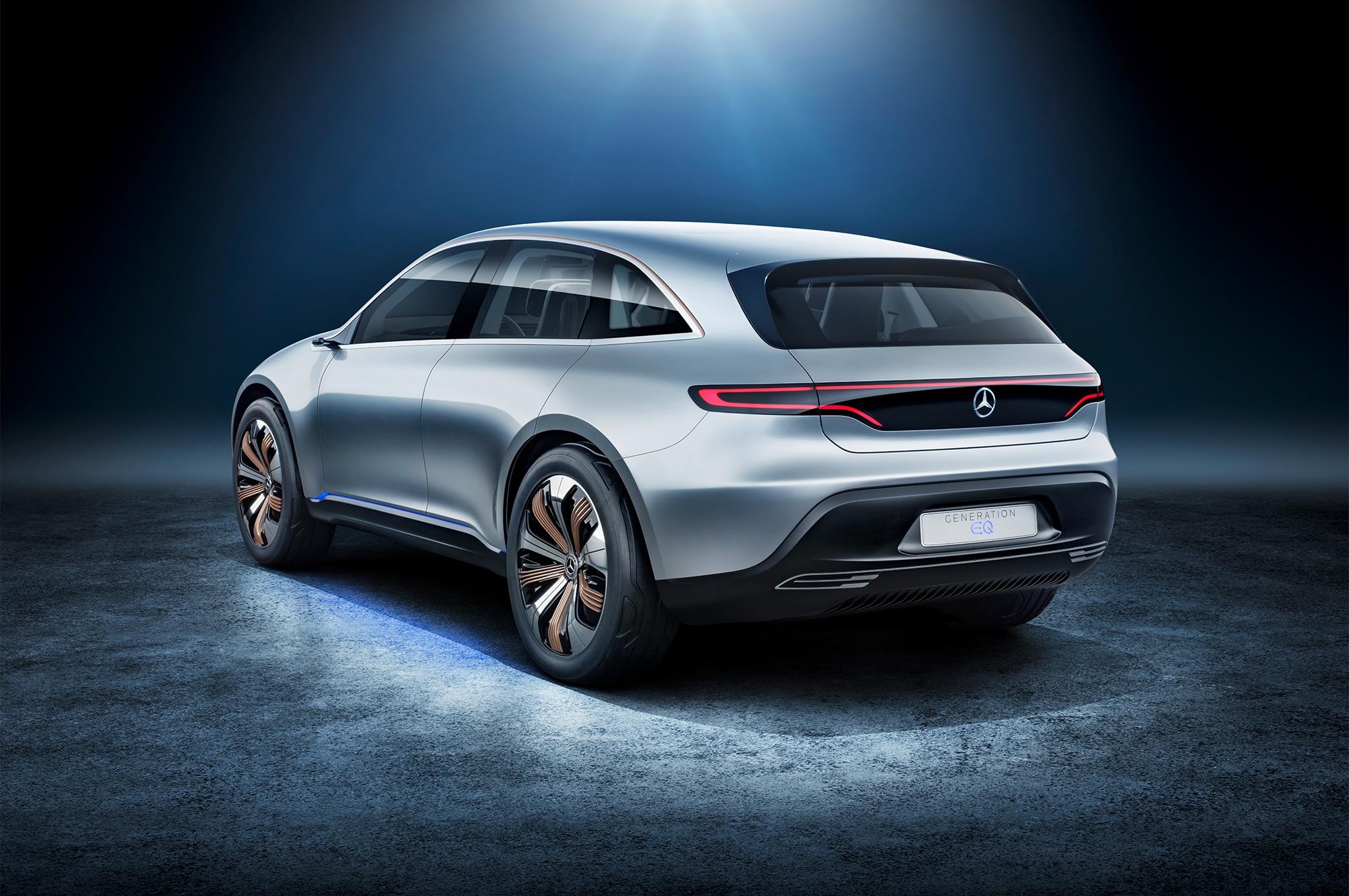Mercedes-Benz-Generation-EQ-electric-car-rear-three-quarter