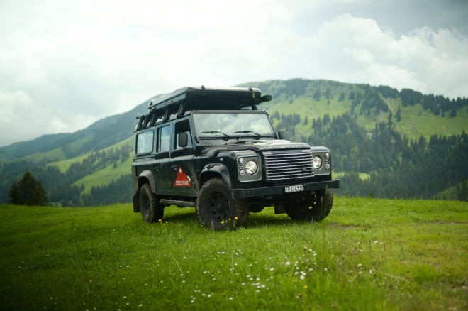 The Best Way to Explore the Swiss Alps is in a Land Rover Defender