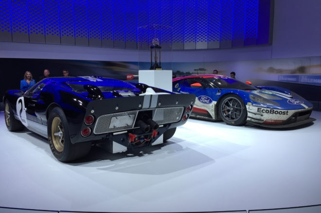 1966 Ford GT40 Mk II And 2016 Ford GT Le Mans  660x438