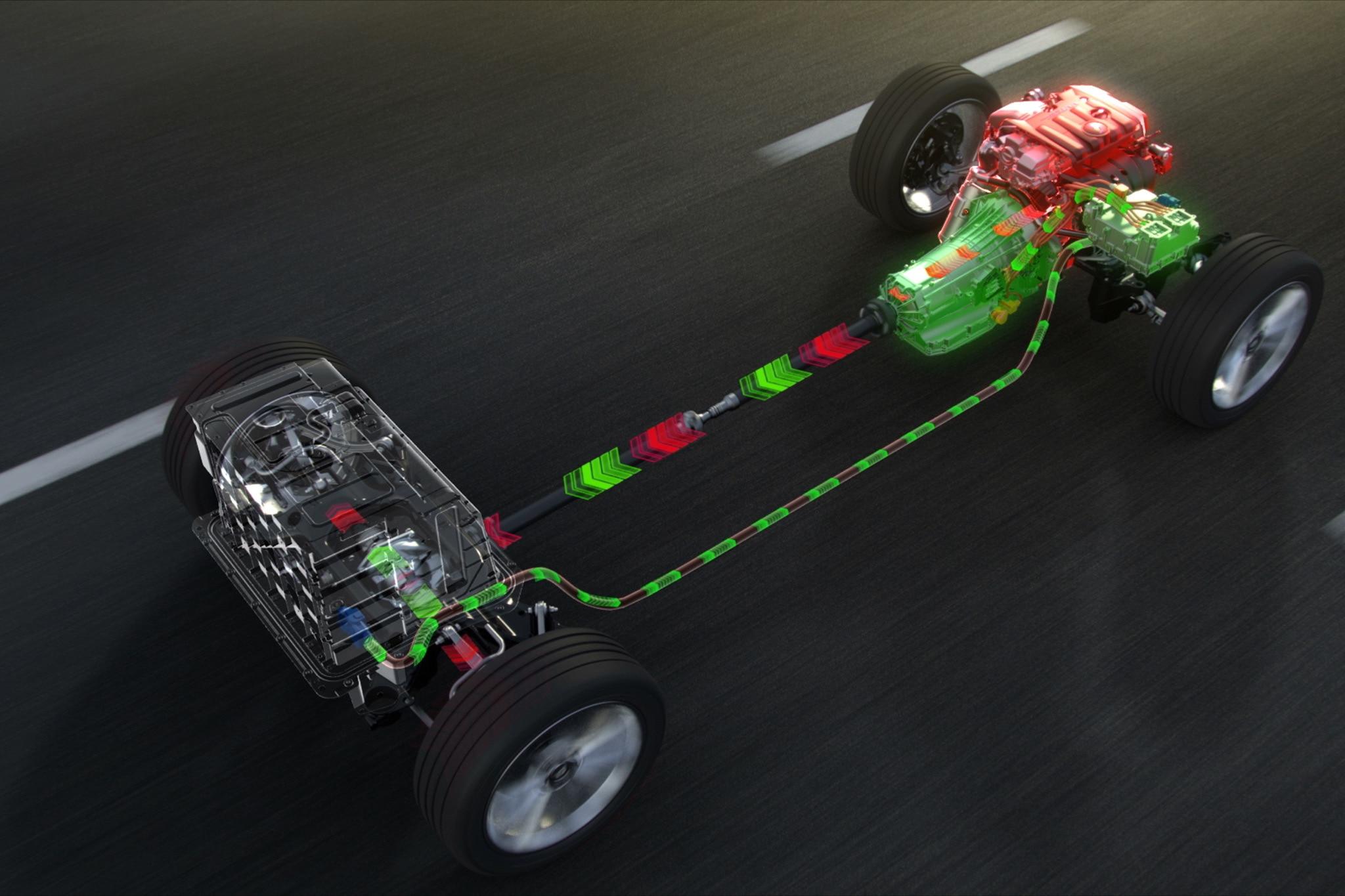 2017 Cadillac CT6 Plug In Hybrid Energy Flow Illulstration