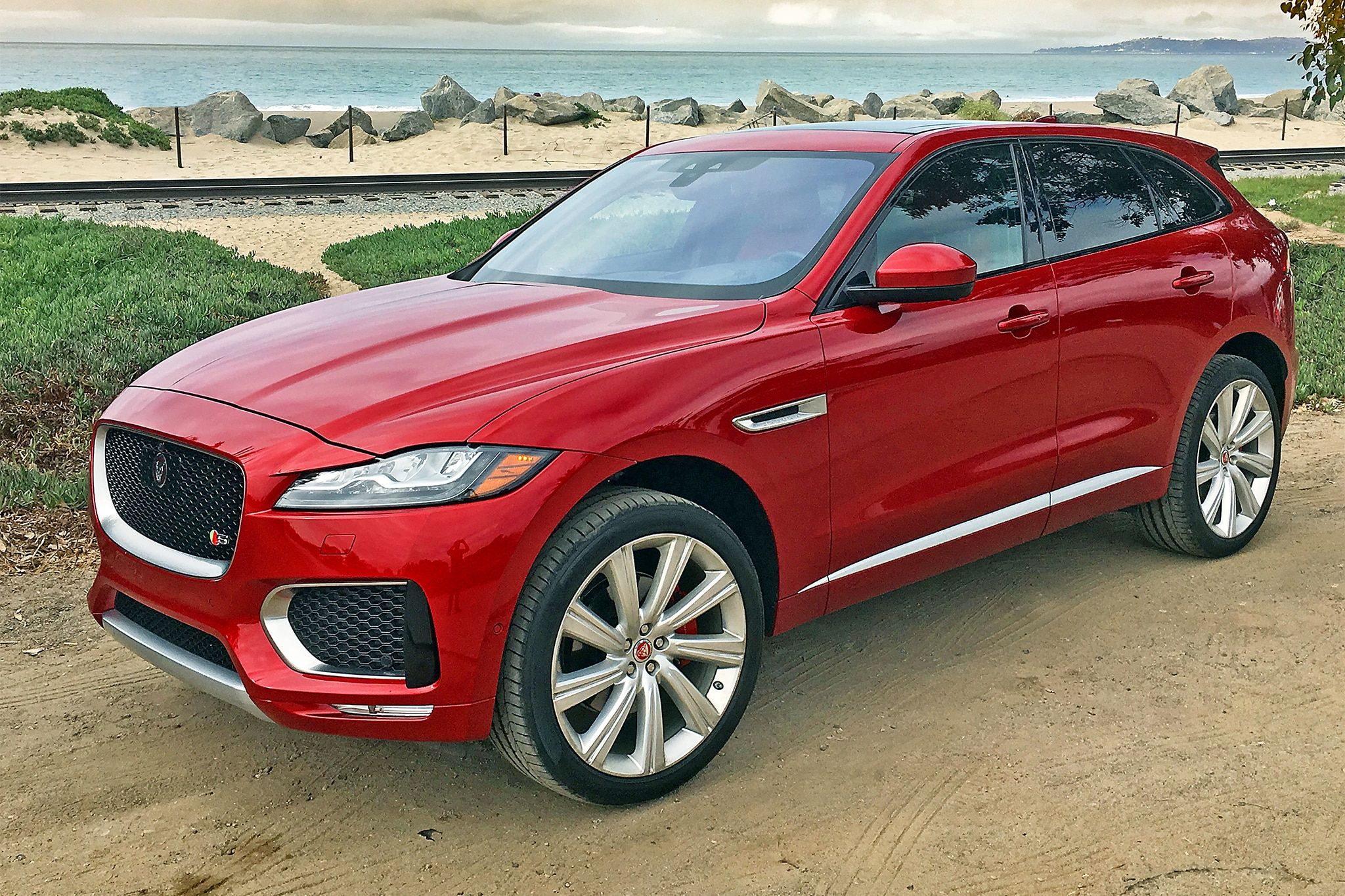 2017 Jaguar F Pace S Front Three Quarter