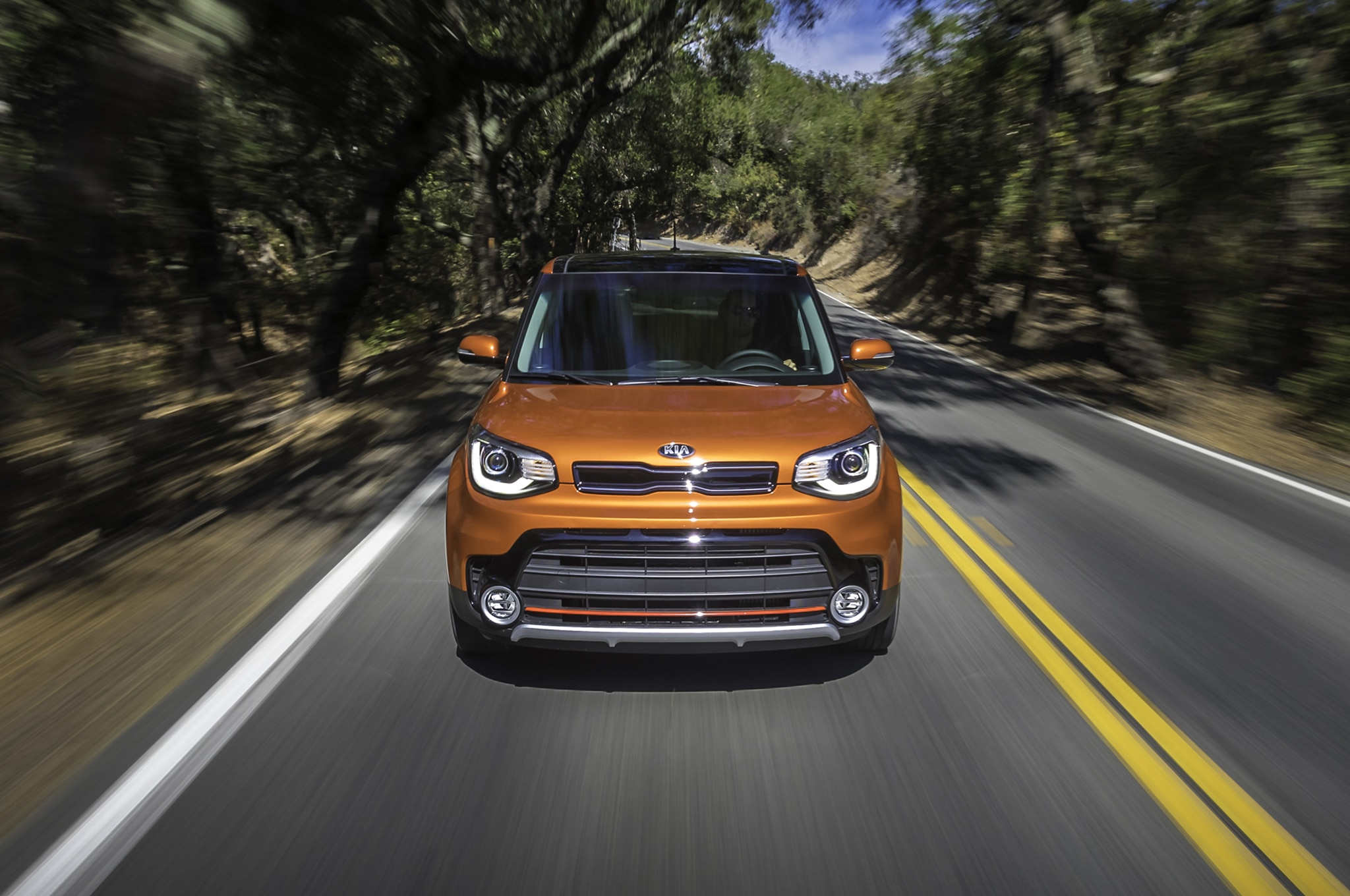 2017 Kia Soul Turbo front end in motion