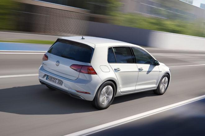 2017 Volkswagen e Golf rear three quarter in motion