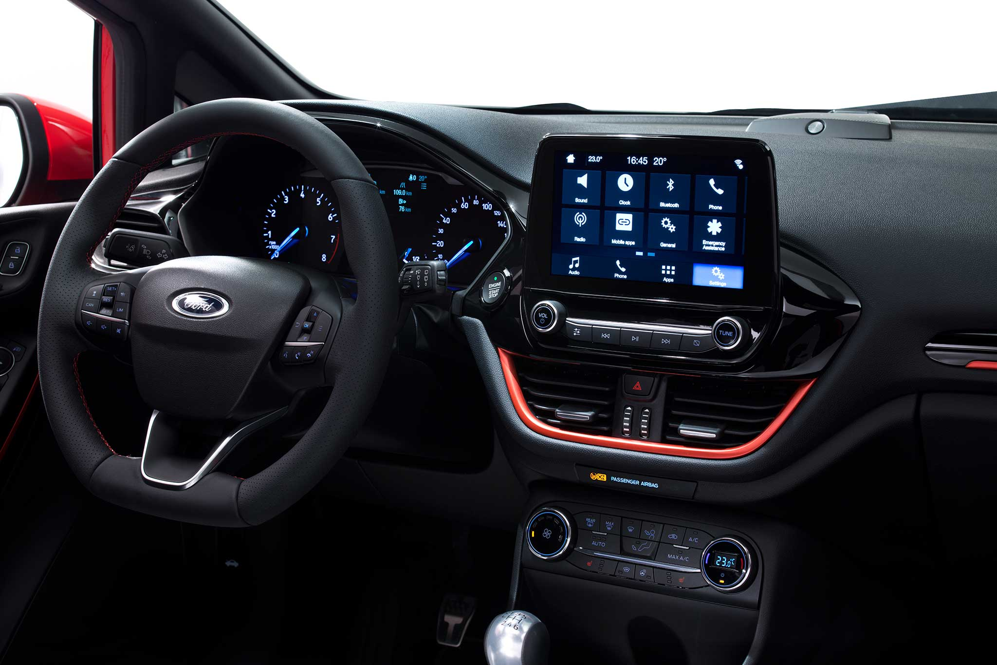 2018 Ford Fiesta Euro spec dashboard
