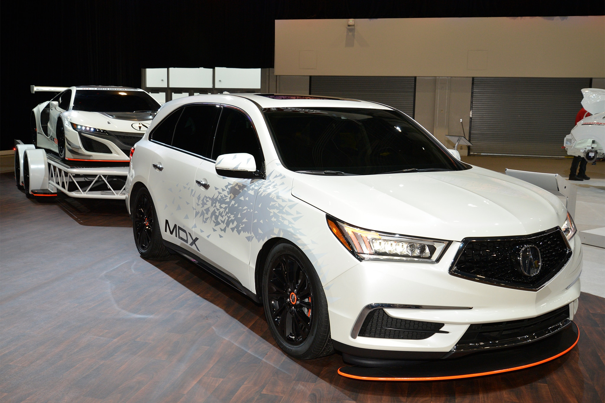 SEMA 2016 Customized Acura MDX to Tow NSX GT3 Racer  Automobile