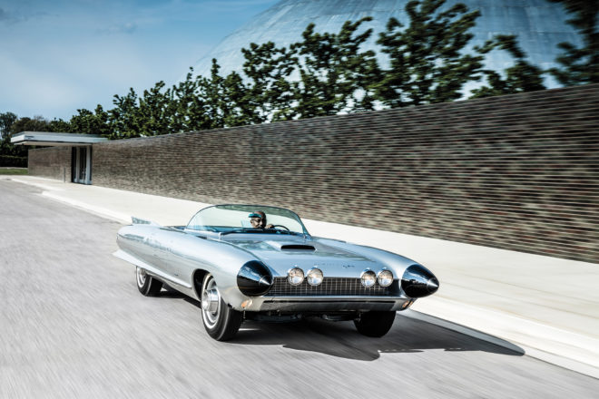 Cadillac Cyclone front three quarter in motion