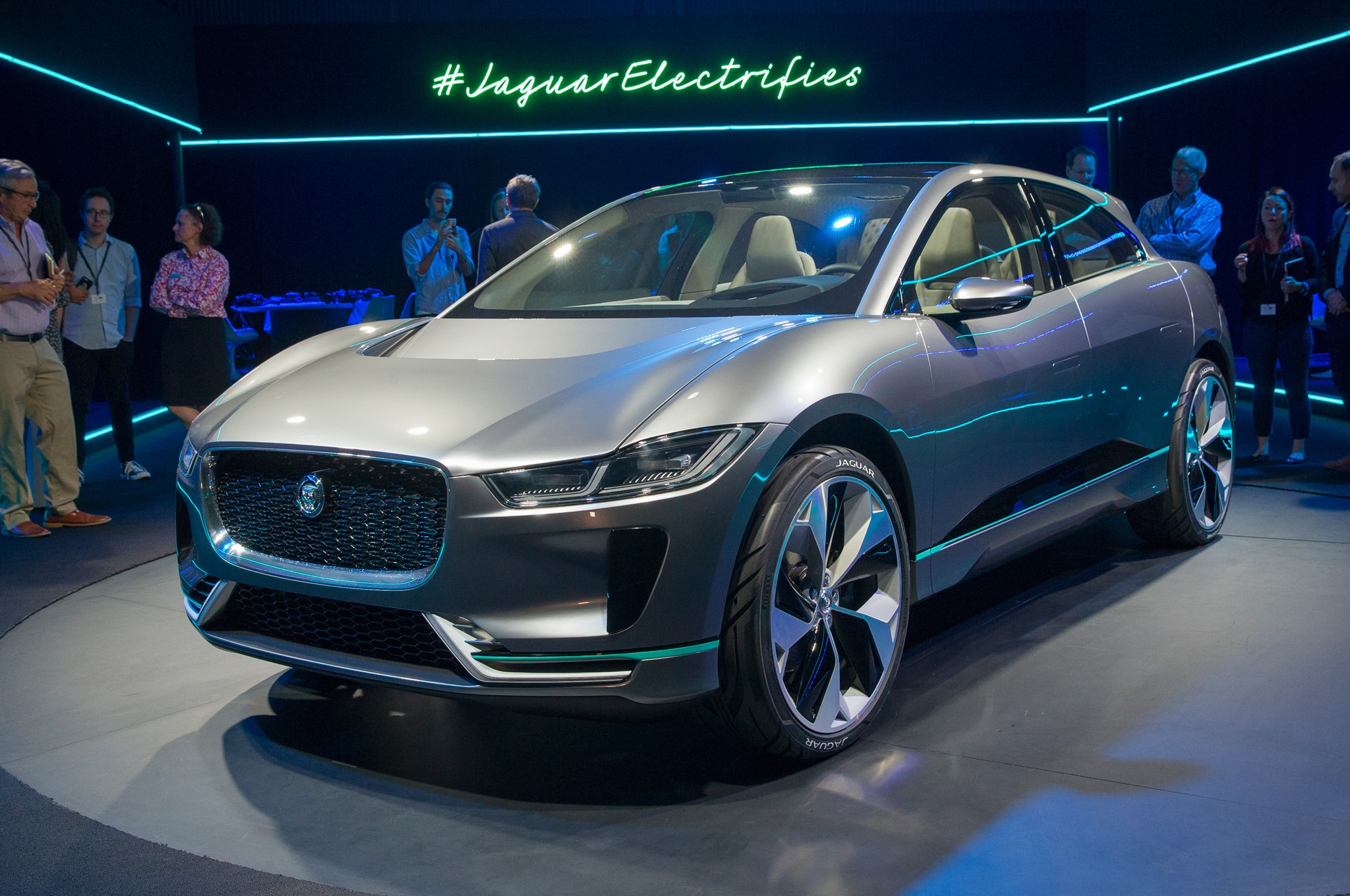 Jaguar I Pace Concept With Electric Signage