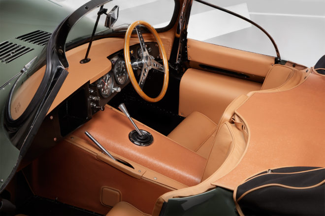 Jaguar XKSS Continuation Car cabin