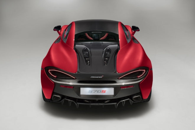 McLaren 570S Special Design Editions Vermillion Red rear high