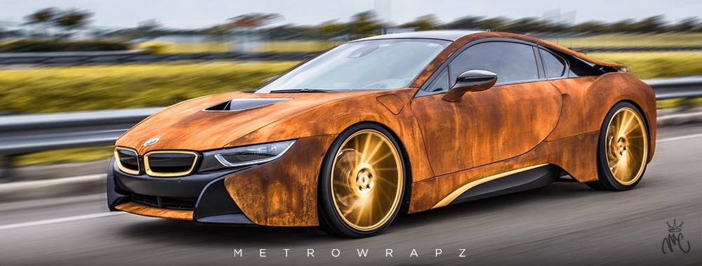 Rust Wrapped Bmw I8 Looks Like The Real Deal Automobile