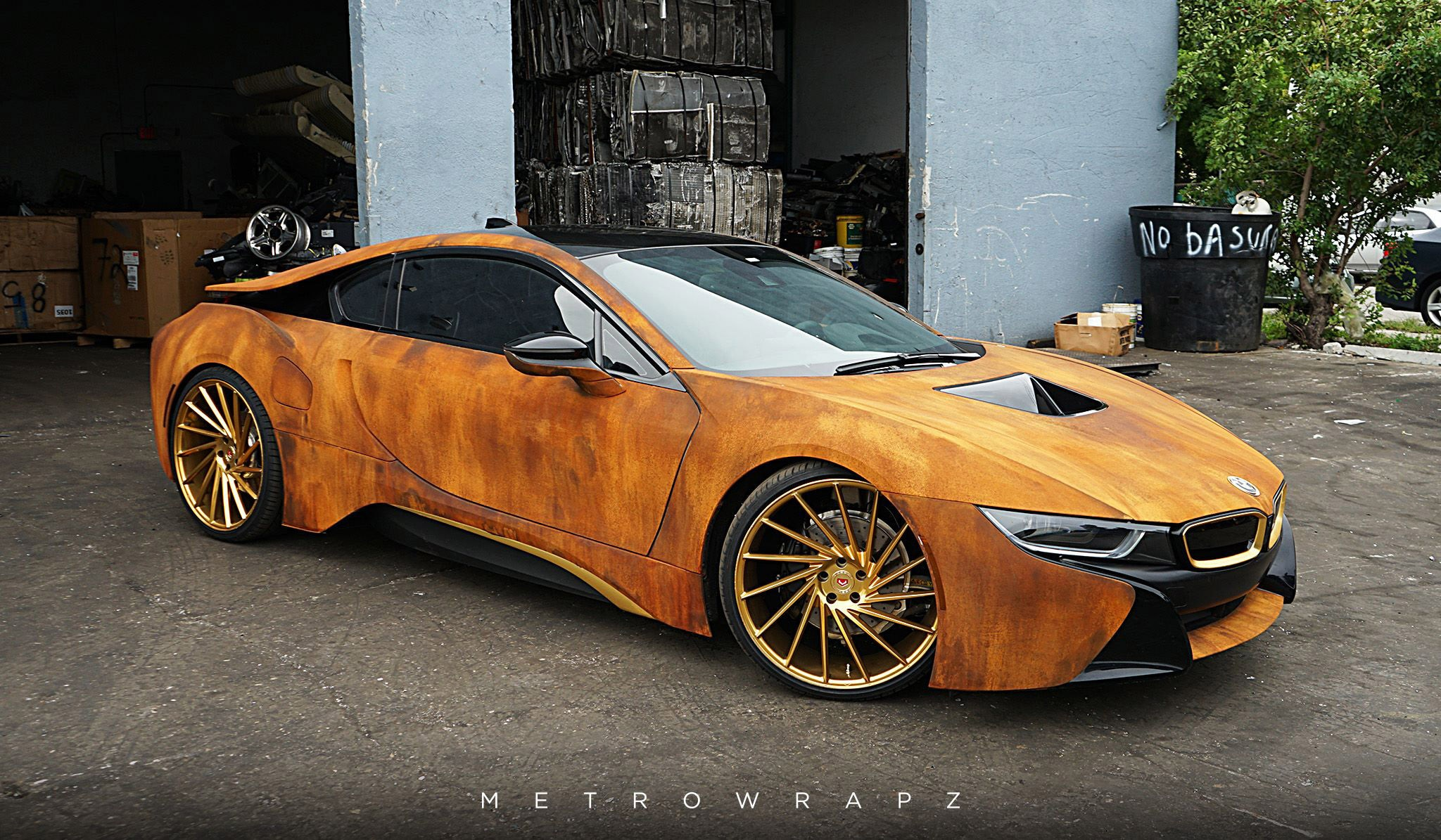 BMW I8 Mpg >> Rust-Wrapped BMW i8 Looks Like the Real Deal | Automobile ...
