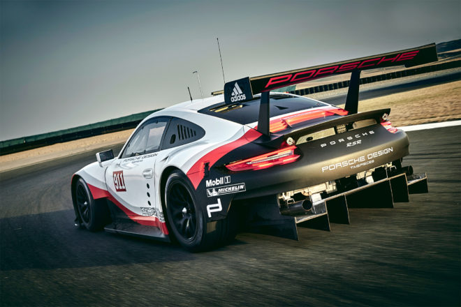 Porsche 911 RSR Rear Three Quarter In Motion 01 660x440