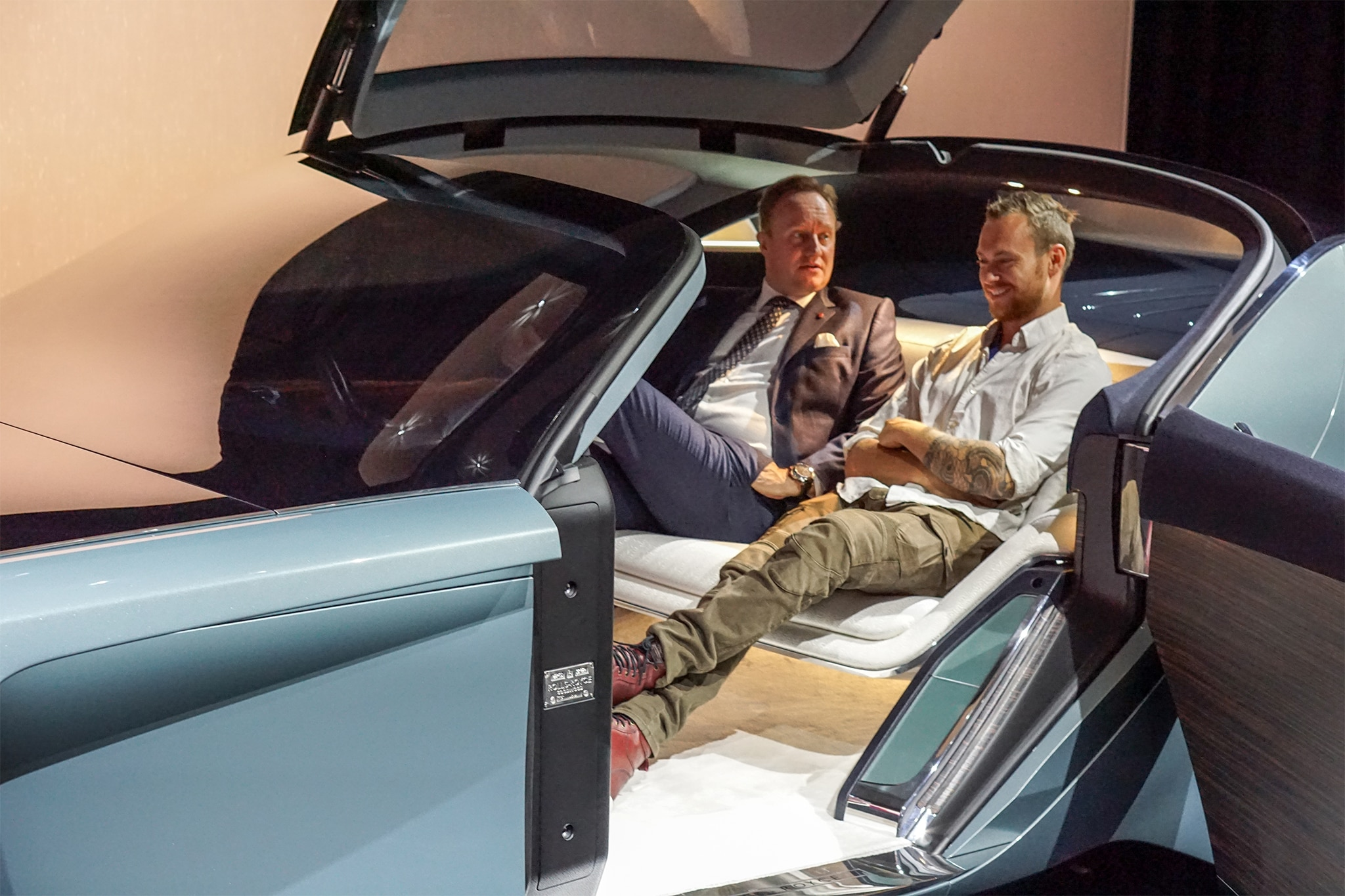 Sitting Inside The Rolls Royce 103ex Concept Automobile