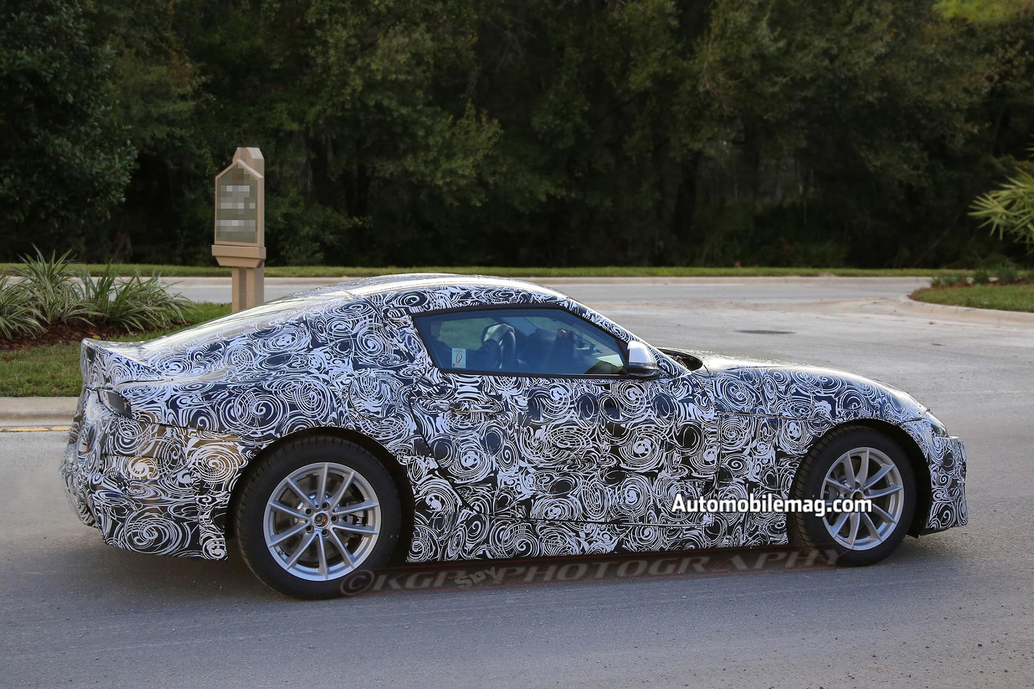toyota supra mule spied wearing ft  styling cues automobile magazine