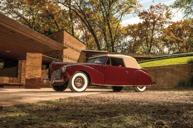 1940 Lincoln Zephyr Continental Cabriolet front three quarter