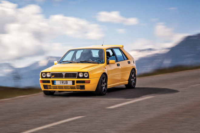 1995 Lancia Delta HF Integrale Evoluzione II Front Three Quarter In Motion 01 660x438
