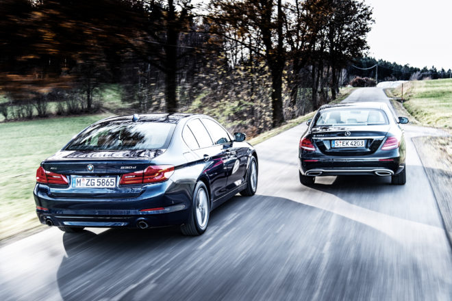 2017 BMW 530d xDrive vs 2017 Mercedes Benz E350d 06