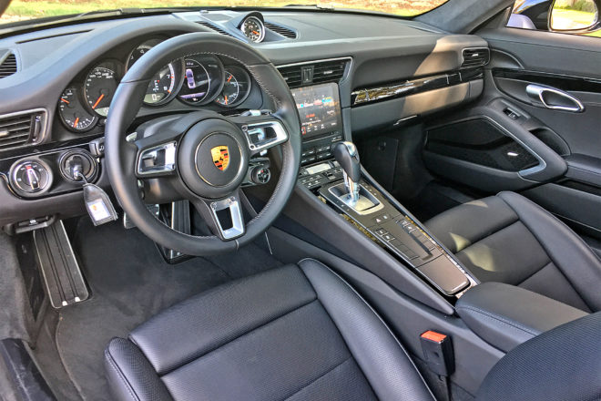 2017 Porsche 911 Turbo cabin