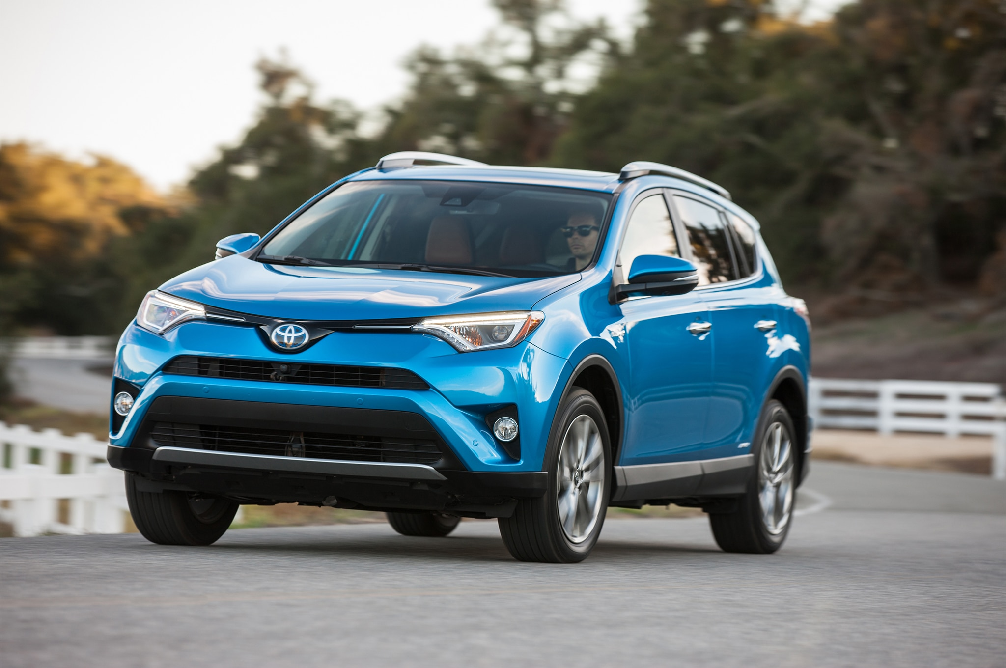 2017 Toyota Rav4 Hybrid Limited Front Three Quarter In Motion 04