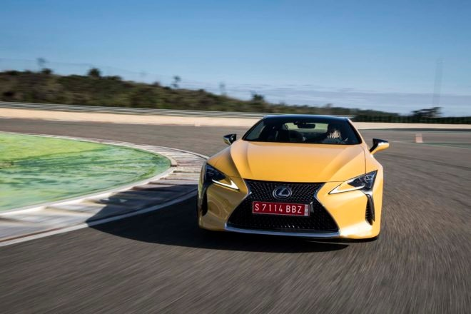 2018 Lexus LC 500 front end in motion 02 1